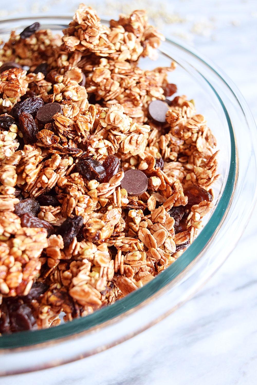 Vegan 3 Ingredient Nut Free Granola Sweet Vegan Sara